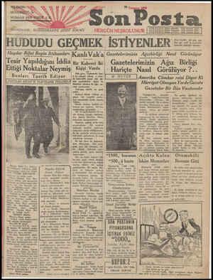 Son Posta Gazetesi 28 Temmuz 1930 kapağı