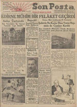 Son Posta Gazetesi 29 Temmuz 1930 kapağı