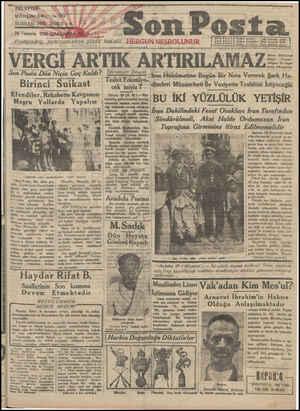 Son Posta Gazetesi 30 Temmuz 1930 kapağı