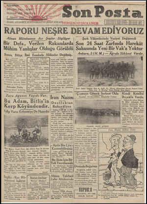 Son Posta Gazetesi 3 Ağustos 1930 kapağı