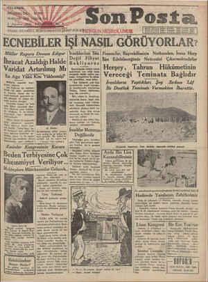 Son Posta Gazetesi 4 Ağustos 1930 kapağı