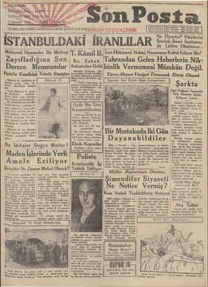 Son Posta Gazetesi 5 Ağustos 1930 kapağı