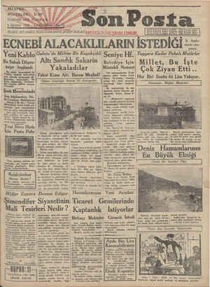 Son Posta Gazetesi 6 Ağustos 1930 kapağı