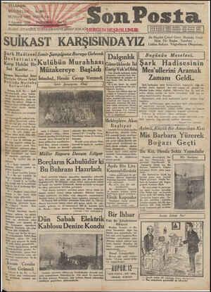 Son Posta Gazetesi 7 Ağustos 1930 kapağı