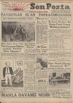 Son Posta Gazetesi 8 Ağustos 1930 kapağı