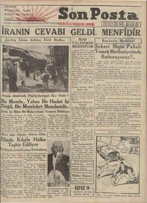Son Posta Gazetesi 9 Ağustos 1930 kapağı