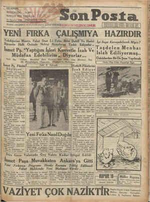 Son Posta Gazetesi 11 Ağustos 1930 kapağı