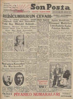Son Posta Gazetesi 12 Ağustos 1930 kapağı