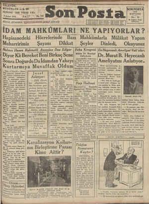 NUSHASI 3 Şubat 1931 , MODORLOK —. 203 | HER YERDE 5K SBALI BÜit a //f 'No. 191 İDARE: İSTANBUL/ NURUOSMANİYE ŞEREF SOKAĞI