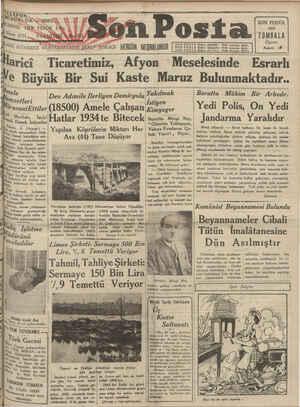 STA Halkın dilidir: İ — <n se eee AŞ A z - | FO MÜDÜRL O RASoOR0İ SON POSTA | U Son Posta : lean 1931 Pötağüşi AAbi 2f...