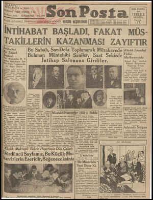 """r kıı:""""lhıp teftiş LL EFO N; NUSHASI Nisan 1931 DÜRLÜK 3320203 HER YERDE. 5 KA CÜMARTESİ TA Halkın TA Halkin TA Halkın dili"""