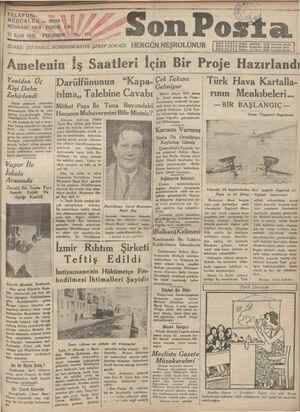 17 Eylal-1931 İDARE; İSTANBUL NURUOSMANİYE ŞEREF SOKAĞI HERGÜN NEŞROLUNUR Halkın pin Halk bununla görür. Halkın kulağıdır.