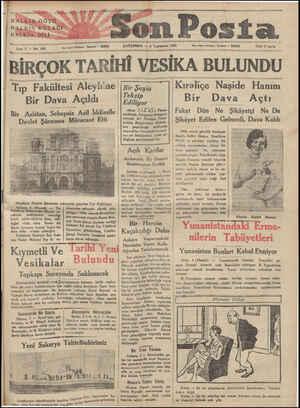 —— - a İdare işleri telefonu: İstanbul — 20203 Sene 2 — No: 459 z p ÇARŞAMBA — 4 Teşrinisani 1031 - Yazı işleri telefonur