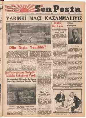 ei e xw x © HALKIN GÖZÜ HALKINSKULAĞI HAYIN. DİLİ Son Posta Yan vam Sene 2 — No: 511 işleri telefonu: İstanbul — 20203...