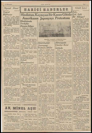 6 Küânunusani —- ['Siyaset Âlemi Ticaret Meflüçtur Bombay 5 — Hint ittihadı icra komitesi, silâhsız itaatsizlik bareketi...
