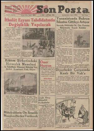"""HALKIN """"GÖZ0Ü HATKIN""""KULAĞI HELKAIN DİLİ Sene 2 — Not 610 — Yazı işteri telefonu — İatanbul — 20203 Ankara 4 (Hususi) — İtha-"""
