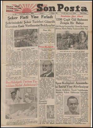 HALKIN GÖZÜ İ a | ü HATKINSKULAĞI t HABICIN. DİLİ SaRE DN a işleri telefenn İetasbul — £0208 — PAZAR — 17 Temmuz 1933...