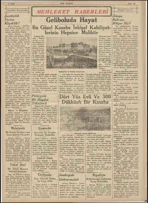 4 Sayfa l lMemIeİcet Manzaraları Şantözlük Yerine .. . Köçeklik! Adana (Hususi) — Yeni Em-   niyet Müdürü İbrahim Bey mem-