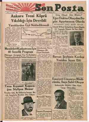 Sene 3 —No: 1033 Yasi İirküşiafesn! « 20203. RA — PAZAR — 11 Haziran 1933 dare işleri telefonu : 4: 20203 m si 5 Rk 5 kuruş