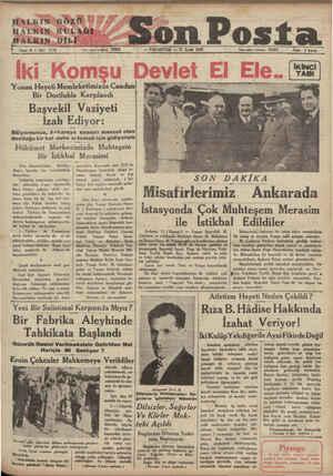 "HALKIN GÖZÜ BALKİIN-KULAĞI HALRKIN-DİLİ t Söne: 4 — No: eee ! oe N eee — "" on Posta - PAZARTESI — Ti Eylâl 1933 İdare..."
