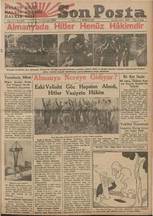 u HALKIN*GÖZÜ a 3 TEMMUZ 1934 eee —a Fiatı $ kuruş Kıymetli misafirimiz, İran Şehinşahı Pehlevi Hz. dün Ege vapurile...