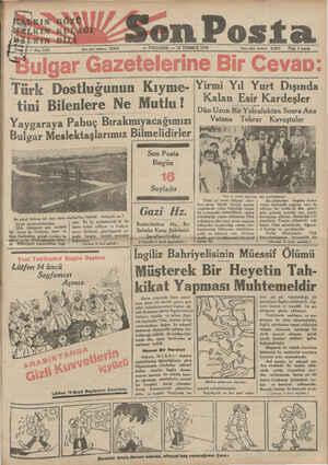 ğxm GÖ'Z_O(_ s . P SEredon Posfa — PERŞEMBE — 19 TEMMUZ 1934 İöere işleri teledema 20203 — Plat 9 kuraş Yan işleri telelonu