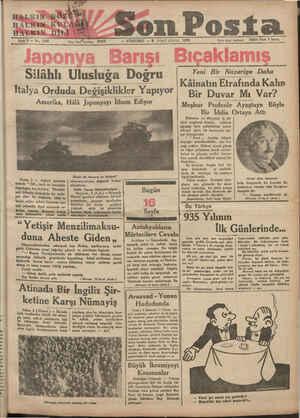 eN Gir HALKINâGÖZÜ ma on Posta Sene 5 — No. 1589 Yazı işleri telefonu: 20203 — PERŞEMBE — 3 İKİNCİ KÂNUN 1935 İdare işleri