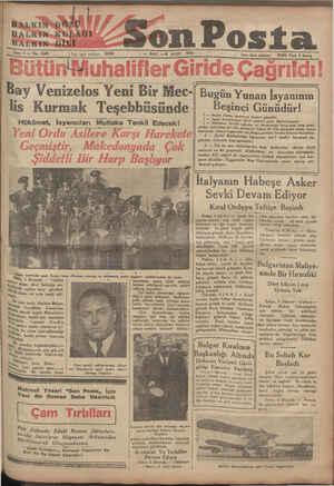 İRALKIN&GÖZÜ HALKİN»KULAĞI HAFREN DİLİ — Sene 5 — No, 1648 — 20203 | Yazı işleri telefonu: — SALI —6 MART 1935 Bon Posta