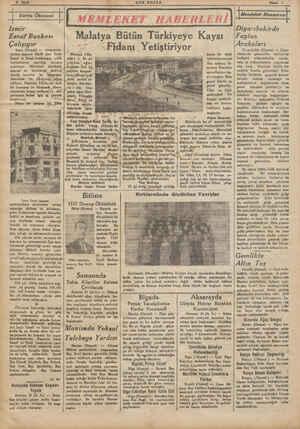 4 Sayfa v ! ! ' Yurtta Ökonomi ! SON POSTA Nisan 1 MEMLEKET HABERLERİ İMemleket Manzarası İzmir M G Diyarıbekirde Esnaf...