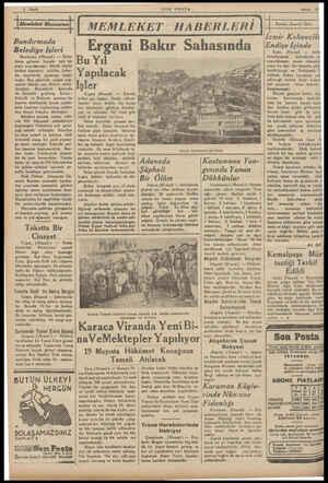 4 Sayfa Memleket Manzarası Bandırmada Belediye İIşleri Bandırma, (Husust ) — Ilkba- harın gelmesi burada tatlı bir ,neş'e...