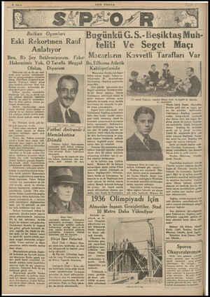 Balkan Oyunları -Eski Rekortmen Rauf Anlatıyor Ben, Bir Ş;y Beklemiyorum. Fakat Hakemimiz Yok, Olalım, Türkiyede yüz ve iki