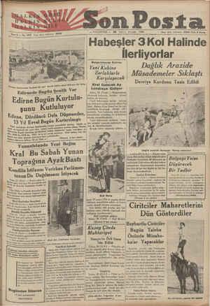 M Tni İSde 6 — No. 1910 î;ı işleri telefonu: M* —a Iulgılıtıııdı Buhran Yeni Kabine Zorluklarla Karşılaşacak Kral VGoîocok