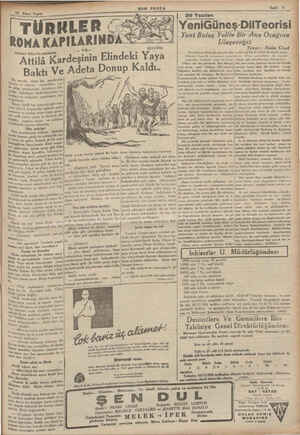 —25 İklaci Teşrin | TÜRNLER (- ROMA KAPILARIN Gerhart Ellert'in eserinden Attilâ Kardeşinin Elindeki Yaya —| - MHO Adeta...
