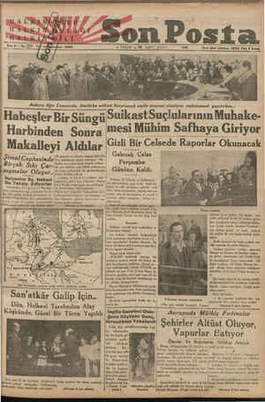 -— — Ankara Ağır Cezasında, Atatürke suikast hazırlamak suçile maznun olanların muhakemesi yapılırken... Habesler Bir Sitn