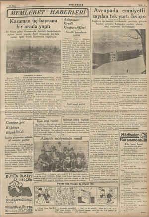 ŞERREN TU BON POSTA Sayfa 53 Karaman üç bayramı bir arada yaptı 23 Nisan günü Karamanda Atatürk heykelinin de açılma töreni