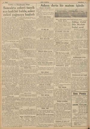 j İ b K e 10 Sayfa Antakya ve lskendenııdı dehşet Sancakta askeri tazyik son haddini evleri yağmaya başlad (Baştarafı 1 inci