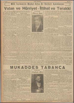 - BON POSTA Mart 20 | Milli Tarihimizin Meçhul Kalan Bir Hakikati Aydınlanıyor | Vatan ve Hürriyet - İttihat ve Terakki (Türk