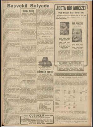 Başvekil Sofyada (Baş tarafı 1 inci sayfada) kili Tevfik Rüşdü Aras ve maiyetlerin- üeki zevat istikbal için bu sabah 650 de