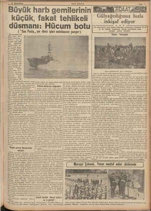 """15 Birincikânın SO0ON POSTA Büvük harb gemilerinin küçük, fakat tehlikeli düşmanı: Hücum botu (""""Son Posta,, nın deniz..."""