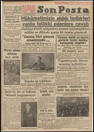 HALKIN GÖZÜ HALKIN KULAĞ HALKIN>DİILİR YAK 9on Posta Sene 9 — No, 3064 _Gazetecilerimiz ilk Imtihanlarında tam Muvaffak...