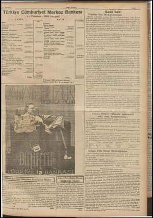 Türkiye Cümhuriyet Merkez Bankası 4 - Temmuz - 1939 Vaziyeti AKTİF Sermaye * İhtiyat Akçesi » Adi ve tevkalde Hususi 24.164
