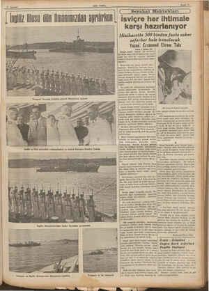 SON POSTa Saya 9 7 Ağustos imeiininii Seyahat Mektubları Vorspayt İngiliz ve Türk amiralleri vedalaşırlarken ve Amiral...