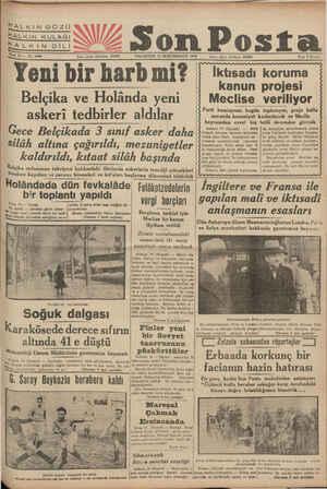 HALKIN GÖZÜ Fiatı 5 Kuruş aa SW p PAZARTESİ 15 İKİNCİKÂNUN 1840 — İdare işleri telefanu: 20203 İktisadı koruma kanun...