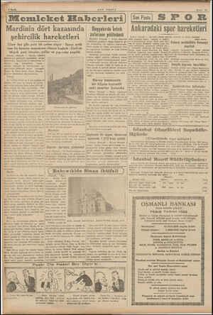| Myetin j 0 Sayfa Mardin (ikususi) — Mardin vilâyeti kazalarında şehircilik hareketleri devam © etmektedir. Geçenlerde bu