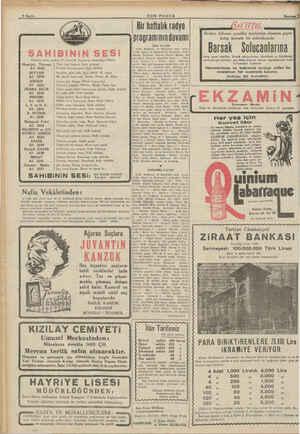 EE A a o SON POSTA | Bir haftalık radyo programının devamı | SALI 4/6/1909 SAHIiBİINİN SESİ Artistlerin okudukları Plâklar