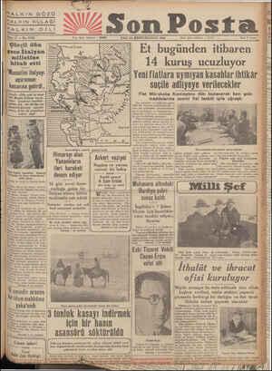 "a MALKIN GÖZÜ HALKIN KULAĞI HALKIN Dİ ii e — 11 — No. 3739 Çörçil dün gece Italyan i milletine hitab etti ""Mussolini italyayı"
