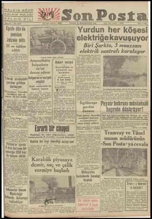 """HALKIN GÖ HALKIN KULAĞI HALKIN Dİ me 11 — N 3755"""" ; Egede dün de yeniden zelzele oldu 25 ev tahliye edi_ldi İzmir 11 (Hususl"""