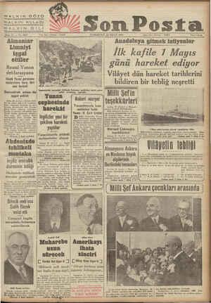 HALKIN GÖ HALKIN KULAĞI BLALEKİ'N DA Sene 11 — No. Almanlar Limniyi işgal ettiler Resmi Yunan deklarasyonu Küçük Yunan (...