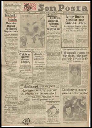 HALKIN GÖZÜ HALKIN KULAĞIİ FALKINN' DİLİ B ae ll z e RİN 1941 —- CUMARTESİ 25 BİRİNCİTEŞİ Setie 12 — No, 4035 Yazı işleri...