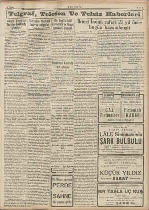 isviçre basınının Türkiye hakkında yazıları (Baştarafı 1 inci sayfada) unun bir mukaddemesi telâkki ediliyor. «Türkiye me